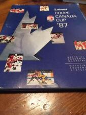 1987 Labatt Canada Cup Game Program USA vs.Finland August 28,1987 Hartford