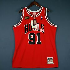 100% Authentic Dennis Rodman Mitchell Ness 98 Finals Jersey Size 40 M Medium Men