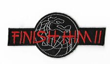 Finish Him Patch Embroidered Iron on Badge Mortal Kombat Costume Scorpion Raiden
