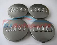 Audi Alloy Wheel Centre Caps, Grey Set of 4 60mm  A3 A4 A5 A6 S LINE TT RS4 Q3