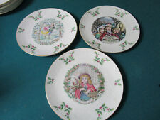 Royal Doulton Collector Plates Christmas Plates 1977 - 1978 - 1981- 8""