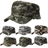 Men's Camo Curved Caps Army Cadet Military Patrol Castro Hunting Baseball Hats