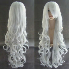 """32""""/80cm Heat Resistant Long Curly Cosplay Wavy Wig +free"""