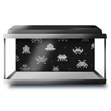 Fish Tank Background 90x45cm BW - Retro Space Game Arcade Gamer  #36880