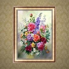 DIY 5D Diamond Flower Painting Embroidery Cross Stitch Home Decor Craft Gift