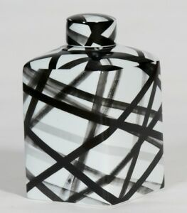 Medium Handpainted-Black&White Container(on Sale less than half price)