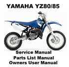 YAMAHA YZ80 YZ85 - Owners Workshop Service Repair Parts List Manual PDF on CD-R