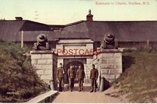 1912 ENTRANCE TO CITADEL, HALIFAX, N. S. CANADA four soldiers at gate