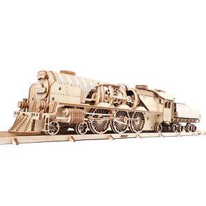 Ugears V-Express Dampflokomotive mit Tender