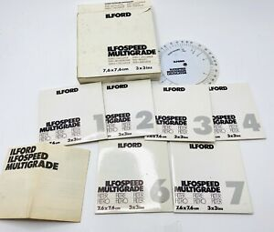 Ilford Ilfospeed MultiGrade Filters And Calculator And Coloured Covers