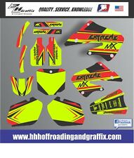 Vibrant Highlighter Graphic Kit for 1997-1999 Honda CR250 CR 250 shrouds decals