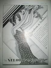 PUBLICITE DE PRESSE DIXOR LA VELOUTY PRINTEMPS DESSIN J.-J. LECLERC AD 1929