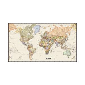 Retro World Map Print 59*39inch