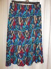TIFTON Women's  TRIBAL PRINT Skirt Size SMALL