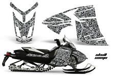 Snowmobile Graphics Kit Decal Wrap For Ski-Doo Rev XR GSX Summit 2013+ SKULL WHT