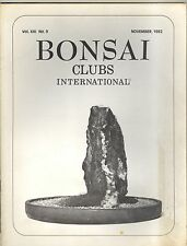 Bonsai Clubs International November 1982 back issue -mint condition - from owner