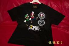 NEW SUPER MARIO BROS. BLACK T-SHIRT SIZE LARGE