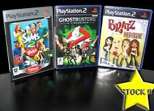 LOTTO STOCK 3 GIOCHI D'AZIONE THE SIMS BRATZ GHOSTBUSTERS PS2 NUOVO ITA STOCK39