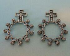 2 Stck. Gebetsring, Fingerrosenkranz aus Metall, AG 77 -10