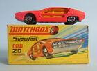 Vintage boxed 1970 Lesney Matchbox Superfast 20 Lamborghini Marzal model