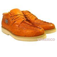 new brown CROCODILE ALLIGATOR OSTRICH PRINT CASUAL SHOE 100% leather