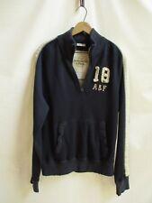 Abercrombie & Fitch Size M Men's 1/4 Zip Pullover Jacket/Sweatshirt Distressed