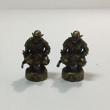 Lord of the Rings Fellowship 2 Replacement Bronze Goblin Pawns Chess Parts