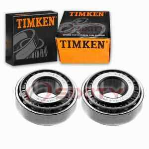 2 pc Timken Front Outer Wheel Bearing and Race Sets for 1987 Chevrolet R10 uf