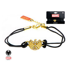 Marvel Comics AGENTS OF SHIELD LOGO GOLD BRACELET Stainless Steel NWT Cosplay