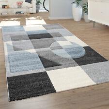 Teppich Für Wohnzimmer, Kurzflor-Teppich Mit 3-D-Muster, In Grau Blau