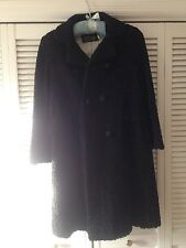 Women's Black Lambs Wool Coat, Size 8, Excellent Condition