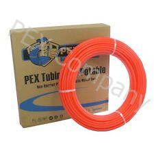 "RED 1"" x 300 ft PEX Potable Tubing Pipe Outdoor Wood Boiler Distribution o"