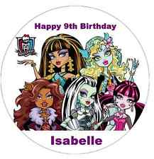 "Monster High Personalised Cake Topper 7.5"" Edible Wafer Paper Birthday Party"