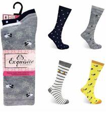 12 Pairs Ladies Socks Farm Animal Designs Exquisite Elegance Comfortable 4-8
