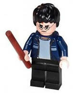 Harry Potter (Blue Jacket) with Wand - LEGO Harry Potter Minifigure