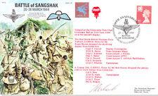 Af12 Battle of sangshak Airborne Forces WWII Birmanie RAF SIGNED Cover Red les diables