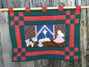 Christmas Holiday Nativity Wall Hanging