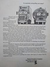 2/1972 PUB SONOCO PRODUCTS PAPER PLASTICS ORIGINAL AD