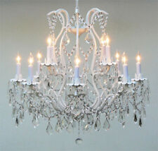 Wrought Iron Crystal Chandelier Lighting 12 Lights Country French, ht30 X wd28