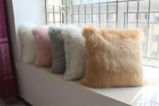 Luxury Soft Faux Fur Fleece Pillow Sheep Skin Cushion Cover Protector Pillowcase