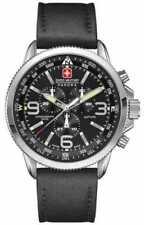 Relojes de pulsera de acero inoxidable plateado resistente al agua para hombre