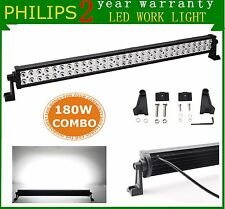Philips 32inch 180W LED Work Light Bar Spot Flood Offroad Lamp Boat SUV UTE JEEP