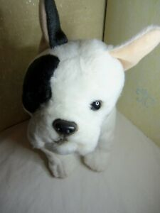"Realistic Dog Plush Toys R Us Animal  French Bulldog Boston Terrier Stuffed 12"""