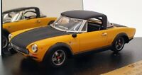 Vitesse 1/43 Scale Model Car 049C - Fiat 124 Spider Abarth - Yellow