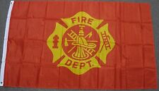 Wholesale Lot 5 3x5 Fire Fighter Department Flag 3'x5' Banner