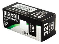 SR616SW 10x Pila Boton Maxell 321 1,55V