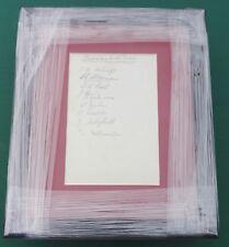 """1937-38 Burnley riserve-firmato montato Album pagina di visualizzazione 11"""" x 9"""" FRAME"""