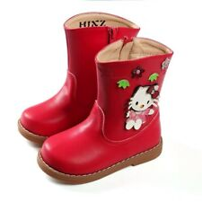 BNWT HELLO KITTY RED MID-CALF BOOTS SIZE US12/UK11/EU29