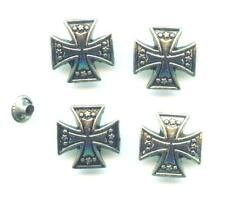 SET á  4  x  Conchos Conchas Eisernes Kreuz Iron Cross Nieten 688