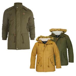 Men's Hooded Padded Puffer Jacket Regular Fit Winter Coat Warm Outwear Soul Star